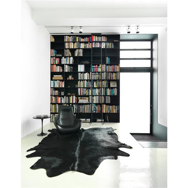 Natural by Lifestyle Brands 6-ft x 7-ft Black Geneva Cowhide Area Rug