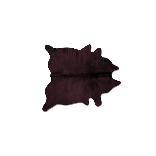 Natural by Lifestyle Brands 6-ft x 7-ft Chocolate Geneva Cowhide Area Rug