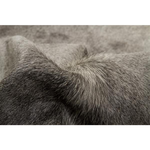 Natural by Lifestyle Brands Geneva Cowhide Rug - 6'x 7' - Gray