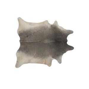 Tapis Geneve en peau de vache , 6' x 7', gris