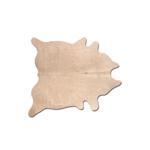 Tapis Geneve en peau de vache , 6' x 7', naturel