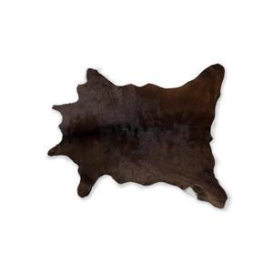 Tapis en peau de veau , 2' x 3', chocolat