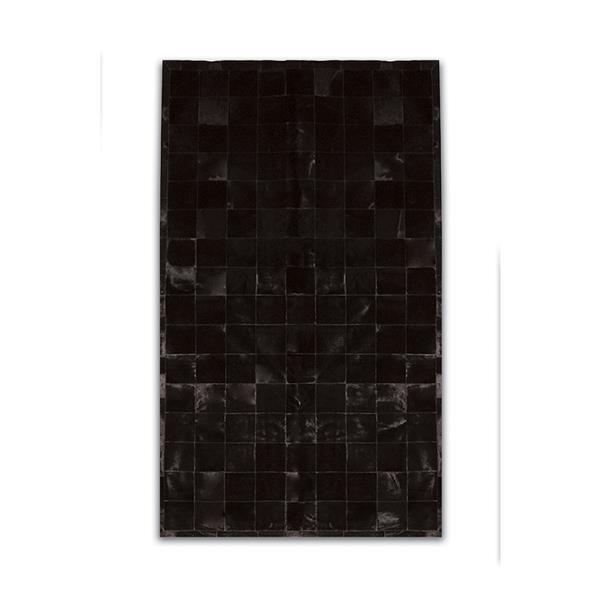 Tapis Barcelone en peau de vache , 8' x 10', noir
