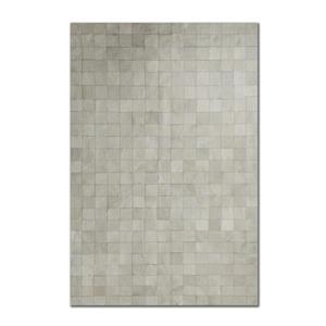 Natural by Lifestyle Brands 8-Ft x 10-Ft Grey Barcelona Cowhide Rug