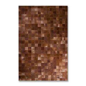 Lifestyle Brands Natural 5-Ft x 8-Ft Chocolate Barcelona Cowhide Rug