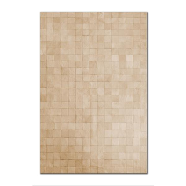 Natural by Lifestyle Brands 5-Ft x 8-Ft Natural Barcelona Cowhide Rug