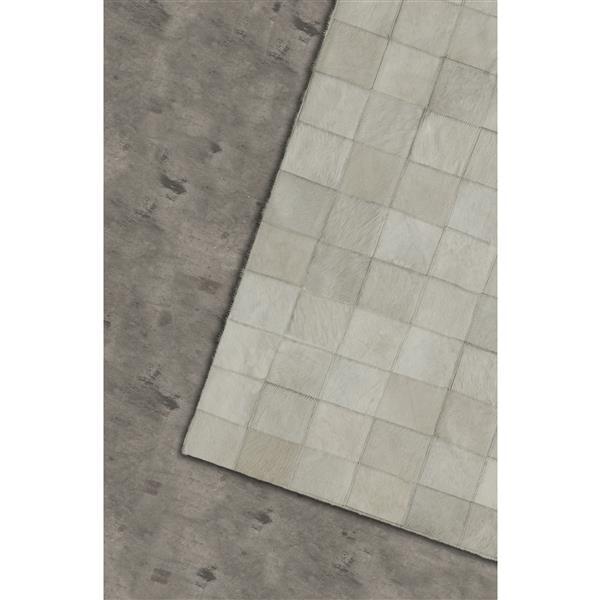 Tapis Barcelone en peau de vache, 5' x 8', gris