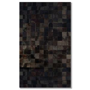Natural by Lifestyle Brands 5-Ft x 8-Ft Chocolate Barcelona Cowhide Rug