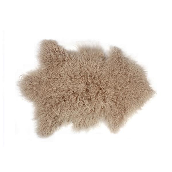 Tapis en fausse fourrure de mouton , 2' x 3', bronze