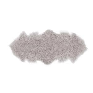 Mongolian Faux Sheepskin Rugs - 2'x 6' - Grey