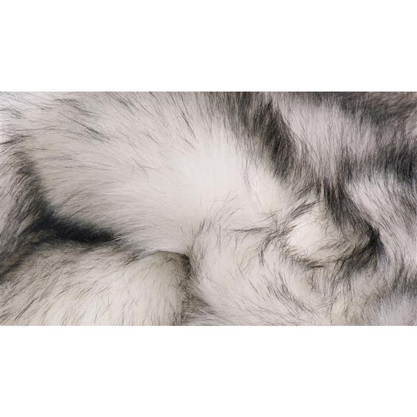 Tapis Hudson en fausse fourrure de mouton , 5' x 8',  gris
