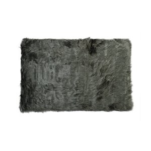 LUXE Hudson Faux Sheepskin 5-ft x 8-ft Gray Indoor Area Rug