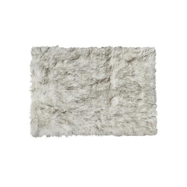 LUXE Hudson Faux Sheepskin 3-ft x 5-ft Gradient Grey Indoor Area Rug