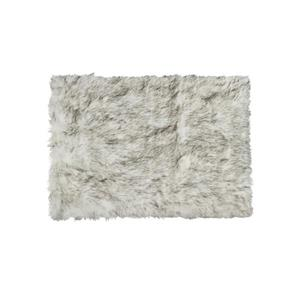 Hudson Faux Sheepskin Rug - 3'x 5' - Grey