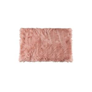 LUXE Hudson Faux Sheepskin 2-ft x 3-ft Dusty Rose Indoor Area Rug