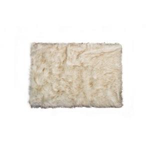 Tapis Hudson en fausse fourrure de mouton , 2' x 3', marron