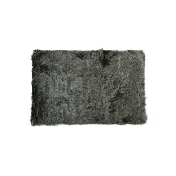 LUXE Hudson Faux Sheepskin 2-ft x 3-ft Cream Indoor Area Rug