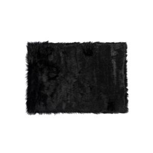 Hudson Faux Sheepskin Rug - 2'x 3' - Black