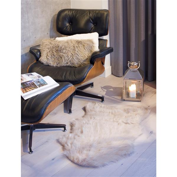 LUXE Gordon Faux Sheepskin Rug - 2'x 3' - Taupe