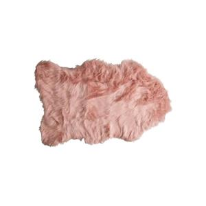 Gordon Faux Sheepskin Rug - 2'x 3' - Dusty Rose