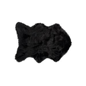 Tapis Gordon en fausse fourrure de mouton , 2' x 3', noir