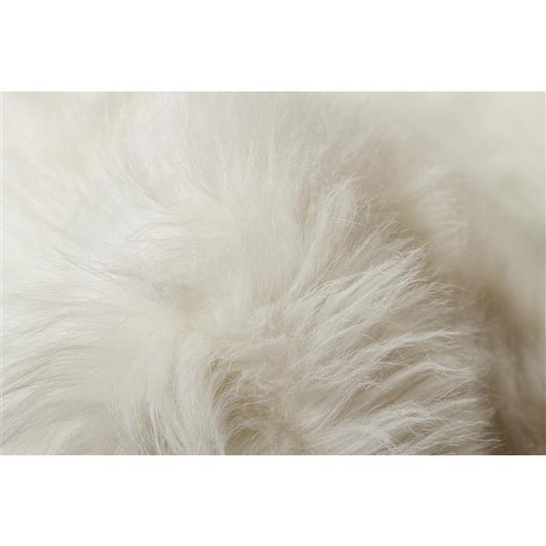 Tapis Arlington en fausse fourrure, 6', blanc