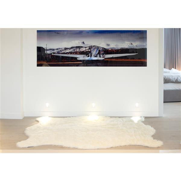 LUXE Faux Hide 5-ft x 7-ft White Polar Bear Indoor Area Rug
