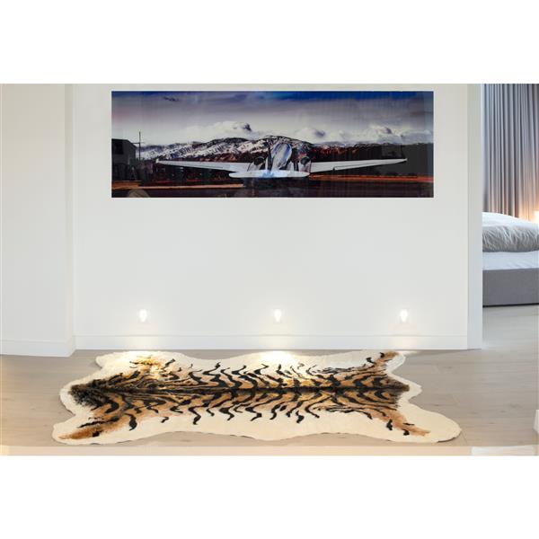 LUXE Faux Hide 5-ft x 7-ft Tiger Indoor Area Rug
