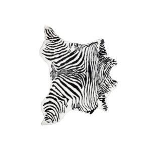 Tapis en fausse en peau de vache , 4,25' x 5',  blanc/noir
