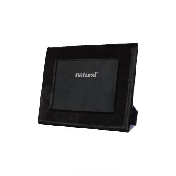 Natural by Lifestyle Brands 5 x 7 Black Durango Cowhide Picture Frame