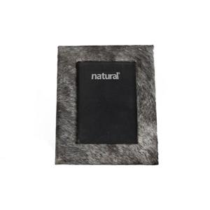 Natural by Lifestyle Brands 5 x 7 Grey Durango Cowhide Picture Frame