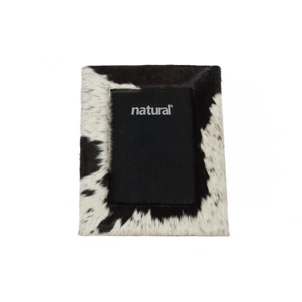 Cadre en peau de vache Durango ,5 x7 , noir/blanc