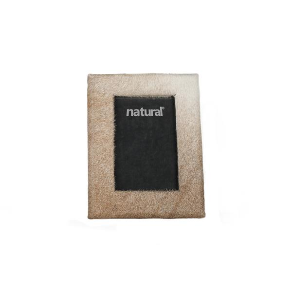 Natural by Lifestyle Brands 5 x 7 Off-White Durango Cowhide Picture Frame