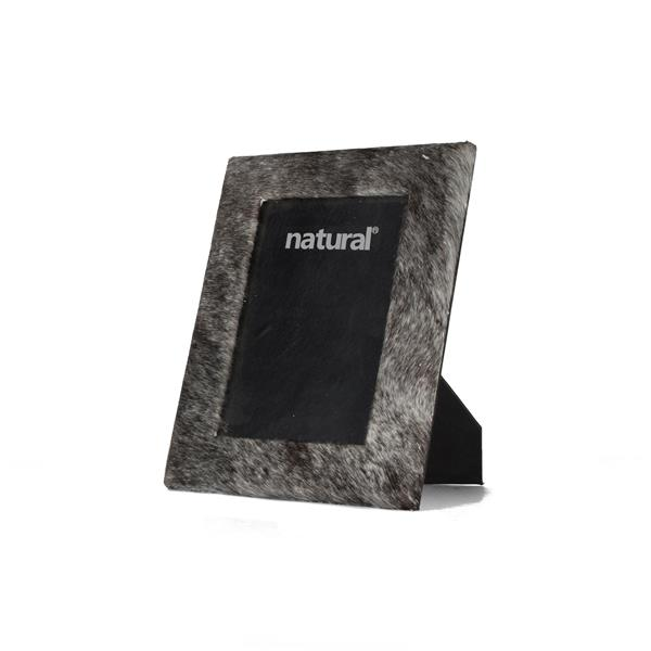 Natural by Lifestyle Brands 4 x 6  Grey Durango Cowhide Picture Frame