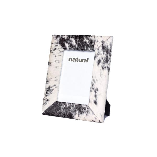 Natural by Lifestyle Brands 4 x 6 Black & White Durango Cowhide Picture Frame