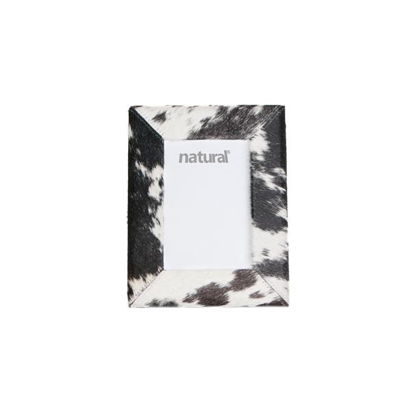 Cadre en peau de vache Durango ,4 x 6, noir/blanc
