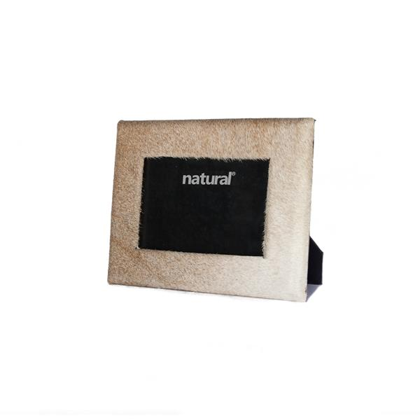 Natural by Lifestyle Brands 4 x 6 Off-White Durango Cowhide Picture Frame