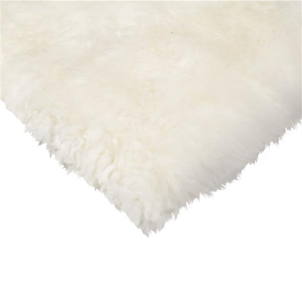 Couverture de chaise peau de mouton , naturel , 2 pqt