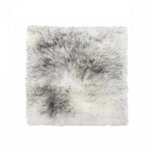 Couverture de chaise peau de mouton , 1/pqt, gris