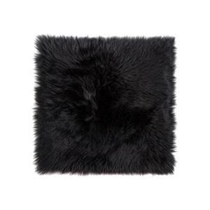 Couverture de chaise peau de mouton , 1/pqt, noir