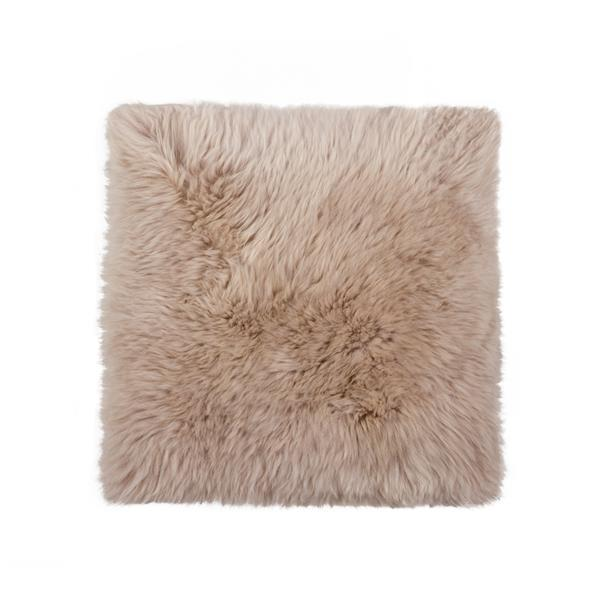 Natural by Lifestyle Brands Brown 17-in x 17-in Sheepskin Chair Seat Cover (1-Pack)