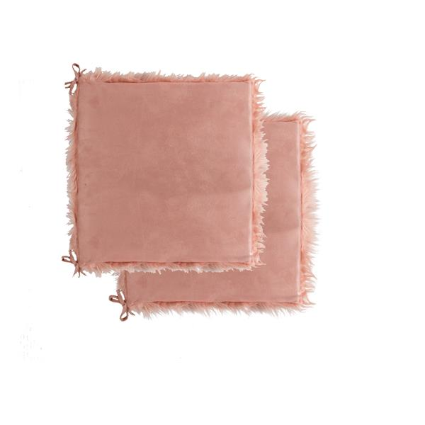 LUXE Marbre Laredo Pink 16-in X 16-in Seat Cushions (2-Pack)