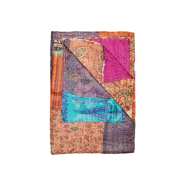 Natural by Lifestyle Brands Kantha 50-in x 70-in 30024 Silk Throw