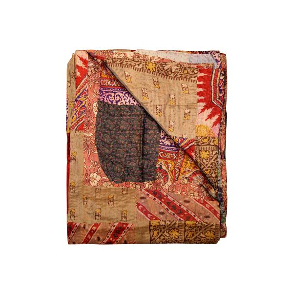 Natural by Lifestyle Brands Kantha 50-in x 70-in 30020 Silk Throw