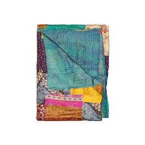 Natural by Lifestyle Brands Kantha 50-in x 70-in 30015 Silk Throw