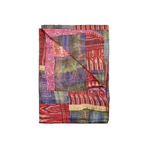 Natural by Lifestyle Brands Kantha 50-in x 70-in 30012 Silk Throw