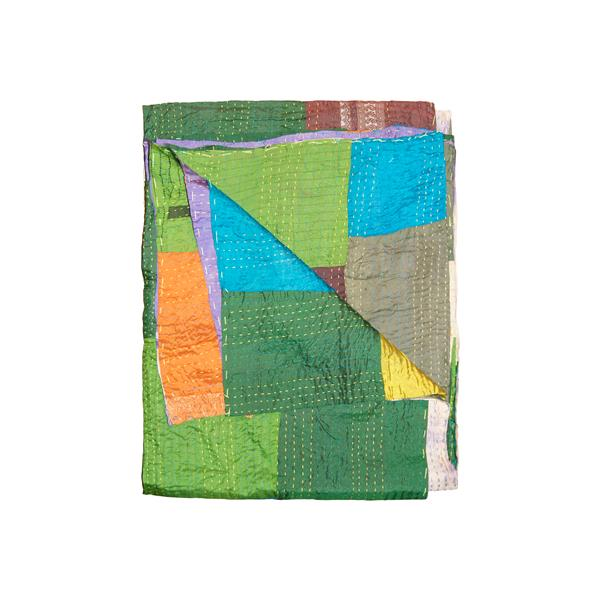 Natural by Lifestyle Brands Kantha 50-in x 70-in 30010 Silk Throw