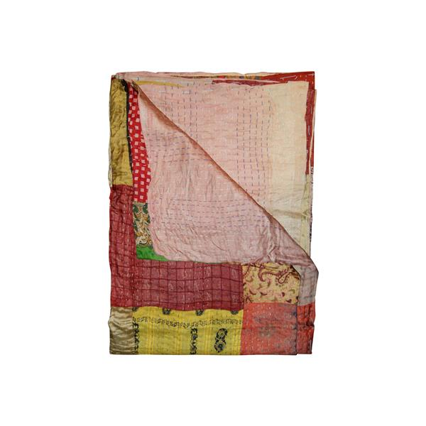 Natural by Lifestyle Brands Kantha 50-in x 70-in 30007 Silk Throw