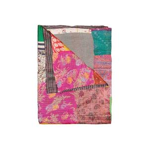 Natural by Lifestyle Brands Kantha 50-in x 70-in 30005 Silk Throw