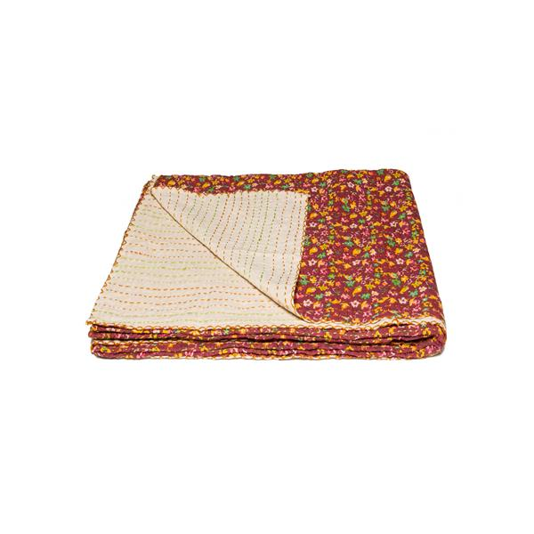 Natural by Lifestyle Brands Kantha 50-in x70-in 300 Cotton Vintage Handmade Throw